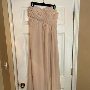 Bill Levkoff Taupe Bridesmaid Dress